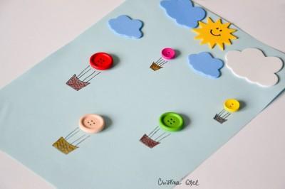 Tablou cu baloane cu aer cald