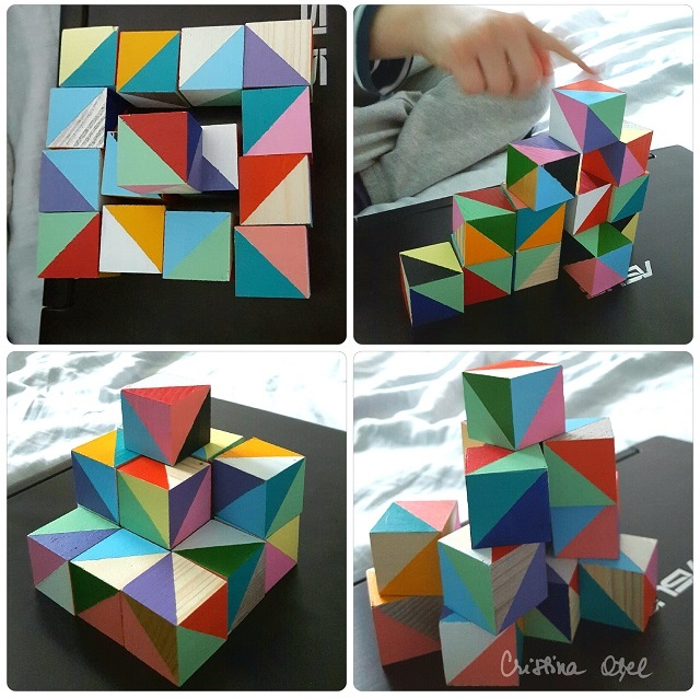 colaj constructii cuburi de lemn