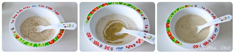 colaj cereale cu piure de banane