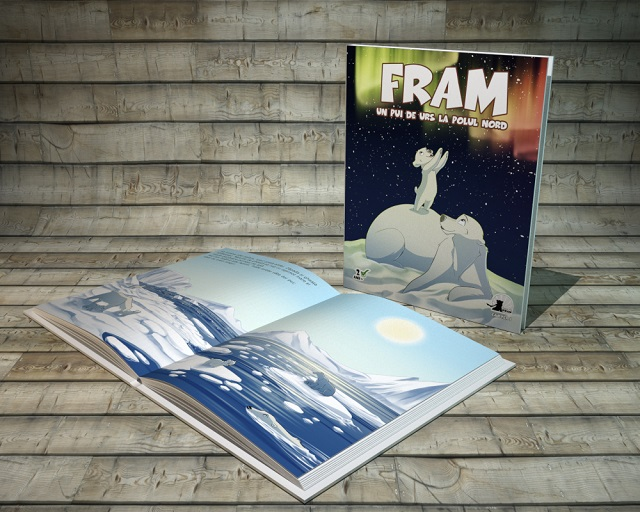 Cartea 1 - Primele luni din viata lui Fram, de la nastere pana la migratia de primavara spre insulele inverzite.