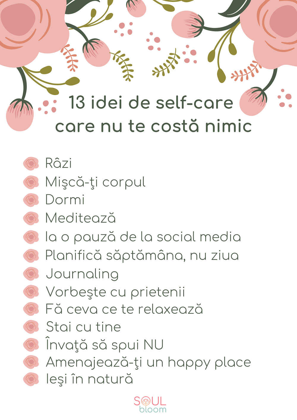 idei de self-care